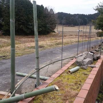 絶賛建設中!塀と門の外構工事!竹でおしゃれな塀を作ります!