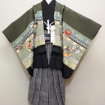 七五三衣装/羽織袴(五歳用)/肩上げ腰上げ調整付/¥6000